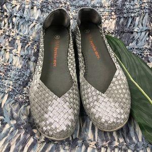 Bernie Mev Metallic Slip On Shoes